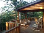 Relax on the back deck with gated deck for your dogs. Pet friendly.