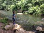 Dry Run Creek trout fishing for kids under 16, elderly and handicapped