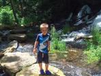 All kids love exploring the creeks.  Dry Run Creek