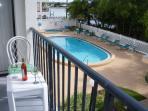 Balcony overlooking pool,Intercoastal and Grilling