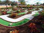Miniature golf on site