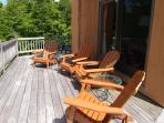 Some of the new outdoor seating on the deck