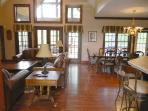 Main Level  Dining Room and Great Room