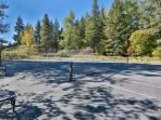 Private Tennis and Basketball court