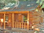 Kids tiny log playhouse
