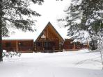 Winter Wonderland; the Lodge is accessible year round, snowy Mid-Nov to March