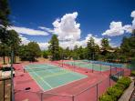 Tennis, workout, racquetball, classes, swimming and cafe 100 yards away