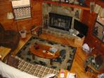 great room looking from loft