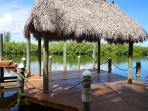 Boat dock, lower dock, overlooking Mangrove Preserve