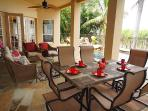 Lanai, outdoor table with seating for 6