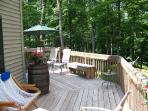 Front deck in summertime