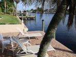 Private furnished boat dock