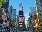 World famous Times Square in 10 minutes of walking distance