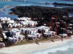 The red arrow points out where the unit is. You are right on the beach!