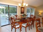 Spacious Dining for 6 with walk out Screened Porch attached