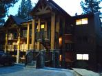 Newly remodeled exterior, mountain lodge look and feel. Parking next to lodging. Ground-level condo.