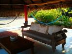 Palapa Lounge, with plenty of space to relax in privacy and enjoy the day going by