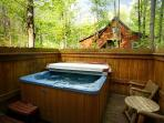 Relax in the Private Hot Tub off the Main Level Bedroom