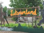Lakenenland,  unusual iron sculpture park, just 1/2 mile from the Beach House!