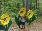 Iron sunflowers at Lakenenland.