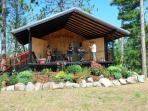 Pavillion at Lakenenland, for drop-in musicians often impromptu jam. Picnic area
