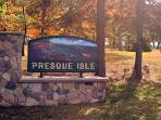 Presque Isle Park, 325 acres of lake and woods to drive or hike. In Marquette.