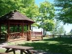 Gazebo at Presque Isle park, in one of many picnic areas.