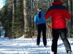 Cross country ski through countless trails.
