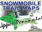 One of many snowmobile trails is right across the road from the Beach House!