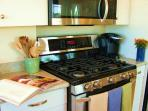 Full Microwave, Full Cooktop & Oven.