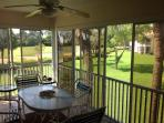 Patio overlooking golf course