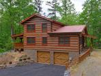 True Appalachian log cabin; Paved parking for 4+ vehicles;