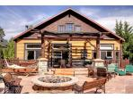 Over 1200 sq ft of patio with fire pit, hot tub and breathtaking views