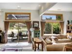 3 sliding doors give access to the patio