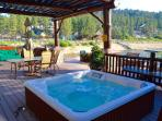 Hot tub for six and views for all