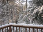Rear Deck in winter