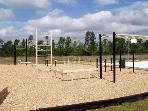 Play land with basketball court