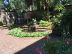 Beautiful, peaceful garden fountain