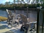 One of two seating areas along the Intracoastal Waterway to enjoy the view