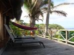 loungers and hammock on seaward deck