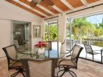 Dine outside in screened lanaii