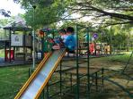 Playground with shades and nice breeze at King Rama 9 park - 15 mins drive from your house