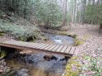 Foot bridge across our creek