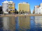 Edificio visto desde el mar
