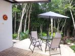 Terraze with outdoor shower