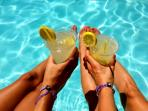 Cocktails by the pool, now this is a vacation!