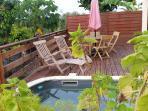 F3 Alamada terrasse au soleil avec la piscine