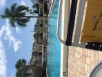 Pool always nice and warm - sorry photo is sideways -