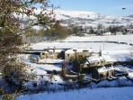 Laneside Farm & Cottages from ridge footpath