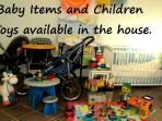 Many baby items and toys available